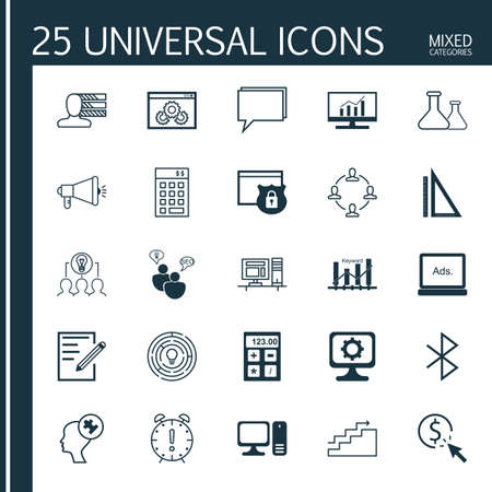 display problem: Set Of 25 Universal Icons On Time Management, Security, Financial And More Topics. Vector Icon Set Including Website Performance, Conference, Pc And Other Icons.