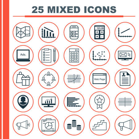 line up: Set Of 25 Universal Icons On Growth, Pin Employee, Curriculum Vitae And More Topics. Vector Icon Set Including Bars Chart, Line Up And Other Icons. Illustration