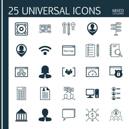 investment security: Set Of 25 Universal Icons On Manager, Investment, Security And More Topics. Vector Icon Set Including Loading Speed, Questionnaire, Music And Other Icons.