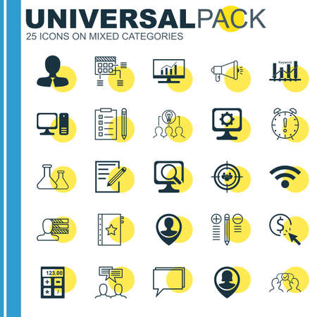 collaborative: Set Of 25 Universal Icons On Conference, Pc, Collaborative Solution And More Topics. Vector Icon Set Including Paper, Schedule, Pc And Other Icons.
