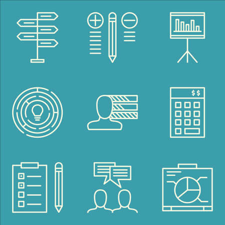 personality: Set Of Project Management Icons On Creativity, Decision Making, Personality And More. Illustration