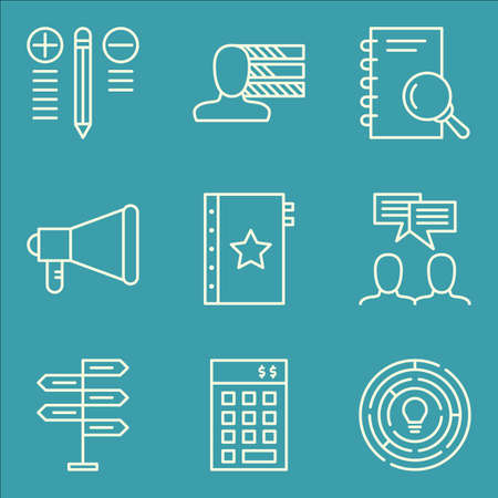 personality: Set Of Project Management Icons On Personality, Quality Management, Research And More.