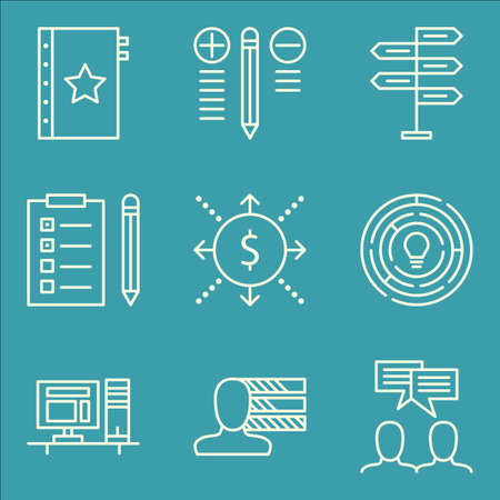 task list: Set Of Project Management Icons On Best Solution, Task List, Personality And More.
