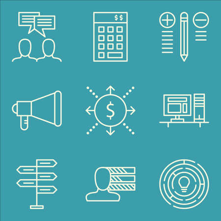 personality: Set Of Project Management Icons On Personality, Team Meeting, Creativity And More.