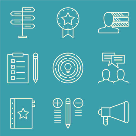 personality: Set Of Project Management Icons On Award, Creativity, Personality And More.