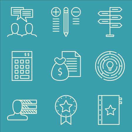 personality: Set Of Project Management Icons On Team Meeting, Creativity, Personality And More. Illustration