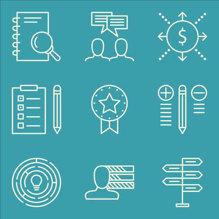 personality development: Set Of Project Management Icons On Creativity, Award, Task List And More. Illustration