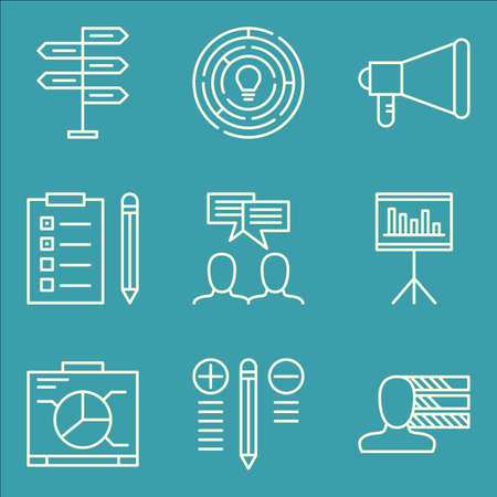 task list: Set Of Project Management Icons On Task List, Personality, Creativity And More.