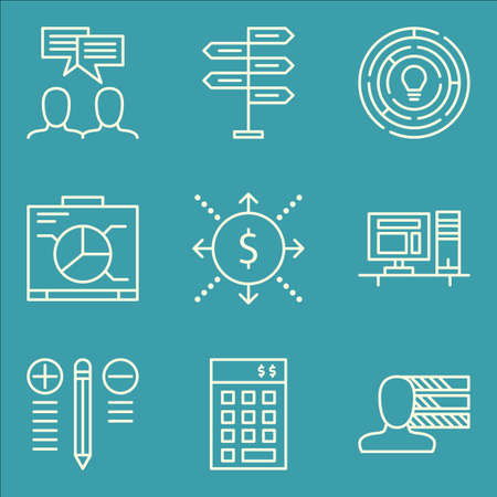 personality development: Set Of Project Management Icons On Personality, Creativity, Workspace And More.