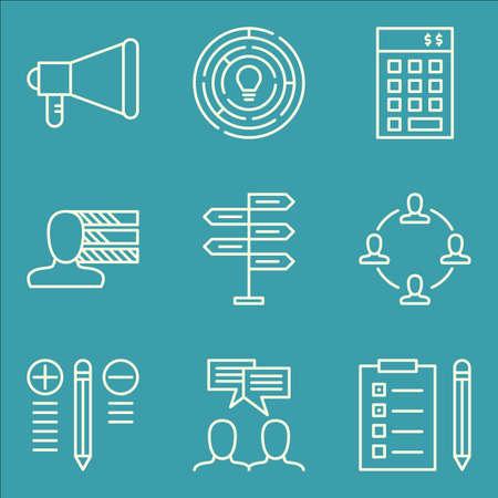 task list: Set Of Project Management Icons On Task List, Promotion, Best Solution And More. Illustration