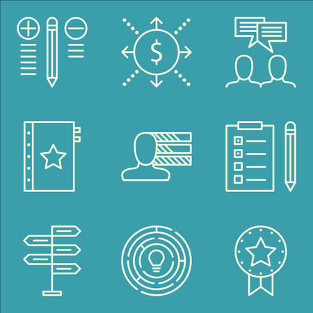 task list: Set Of Project Management Icons On Best Solution, Task List, Decision Making And More.