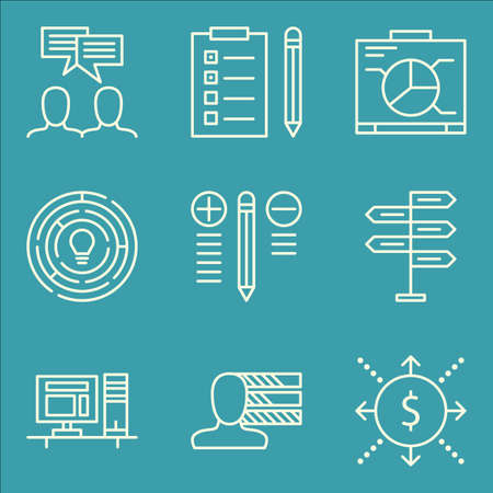 task list: Set Of Project Management Icons On Workspace, Personality, Task List And More.