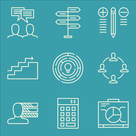 personality: Set Of Project Management Icons On Best Solution, Personality, Investment And More.