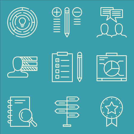task list: Set Of Project Management Icons On Best Solution, Task List, Creativity And More.