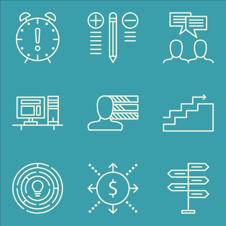 personality: Set Of Project Management Icons On Creativity, Workspace, Personality And More.