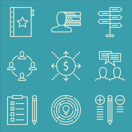 personality: Set Of Project Management Icons On Quality Management, Personality, Decision Making And More.