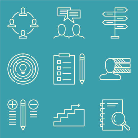 task list: Set Of Project Management Icons On Charts, Best Solution, Task List And More. Illustration