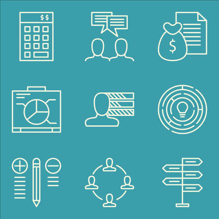 revenue: Set Of Project Management Icons On Best Solution, Graph, Money Revenue And More. Illustration