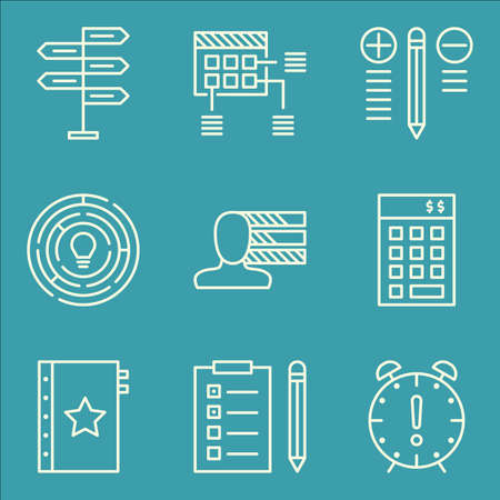 personality: Set Of Project Management Icons On Decision Making, Personality, Creativity And More.