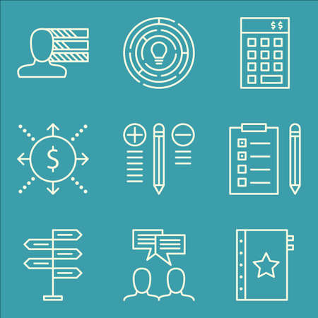 personality development: Set Of Project Management Icons On Investment, Team Meeting, Creativity And More.