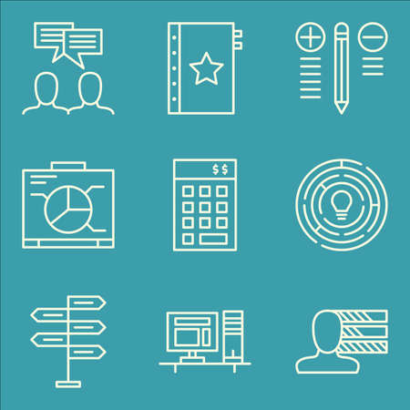 personality development: Set Of Project Management Icons On Quality Management, Personality, Graph And More. Illustration