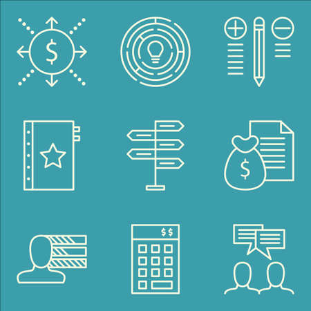 personality development: Set Of Project Management Icons On Money Revenue, Investment, Best Solution And More. Illustration
