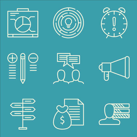 personality: Set Of Project Management Icons On Personality, Deadline, Decision Making And More.