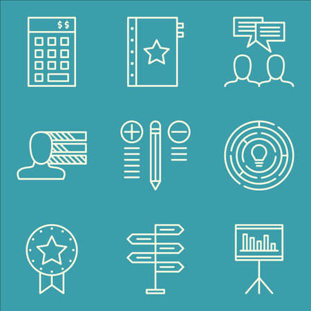 personality development: Set Of Project Management Icons On Statistics, Investment, Creativity And More. Illustration