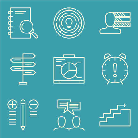 personality: Set Of Project Management Icons On Personality, Charts, Best Solution And More.