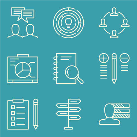 personality: Set Of Project Management Icons On Best Solution, Team Meeting, Personality And More.