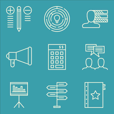 personality: Set Of Project Management Icons On Decision Making, Team Meeting, Personality And More.
