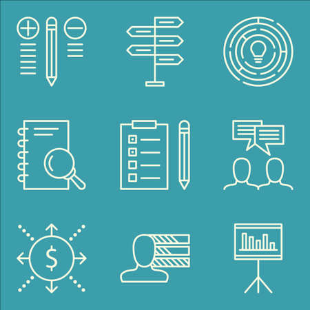 personality: Set Of Project Management Icons On Personality, Cash Flow, Best Solution And More.