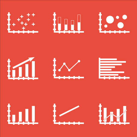 dynamic trend: Set Of Graphs, Diagrams And Statistics Icons. Premium Quality Symbol Collection. Icons Can Be Used For Web, App And UI Design. Vector Illustration, EPS10.