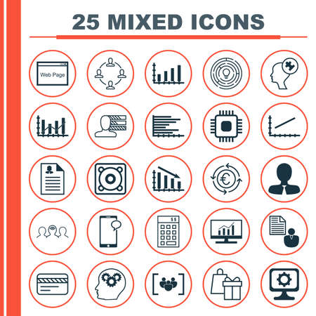 application recycle: Set Of 25 Universal Icons On Investment, Brain Process, Currency Recycle And More Topics. Vector Icon Set Including Manager, Female Application, Report Icons. Illustration
