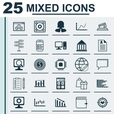 optimisation: Set Of 25 Universal Icons On Website Performance, Keyword Optimisation, Education Center And More Topics. Vector Icon Set Including Conference, Keyword Optimisation, Opportunity Icons.