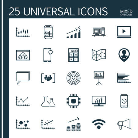 bubble acid: Set Of 25 Universal Icons On Website Performance, Innovation, Financial And More Topics. Vector Icon Set Including Chemical, Financial, Computer Icons.