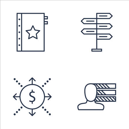 Set Of Project Management Icons On Decision Making, Quality Management, Personality And More. Premium Quality EPS10 Vector Illustration For Mobile, App, UI Design.