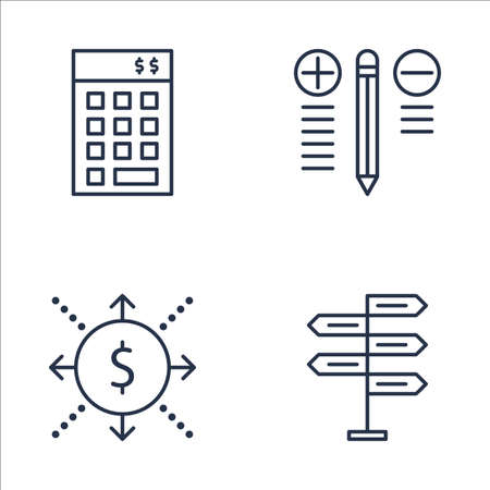 cash flows: Set Of Project Management Icons On Best Solution, Decision Making, Investment And More. Premium Quality EPS10 Vector Illustration For Mobile, App, UI Design. Illustration