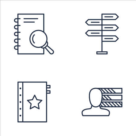personality development: Set Of Project Management Icons On Personality, Research, Quality Management And More. Premium Quality EPS10 Vector Illustration For Mobile, App, UI Design.