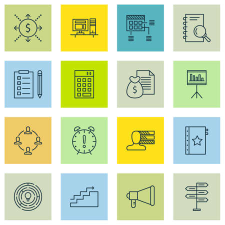 opportunity sign: Set Of Project Management Icons On Innovation, Warranty And Computer Topics. Editable Vector Illustration. Includes Project, Collaboration And Brainstorm Vector Icons.