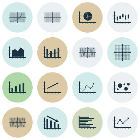 graphical chart: Set Of Graphs, Diagrams And Statistics Icons. Premium Quality Symbol Collection. Icons Can Be Used For Web, App And UI Design. Vector Illustration, EPS10.