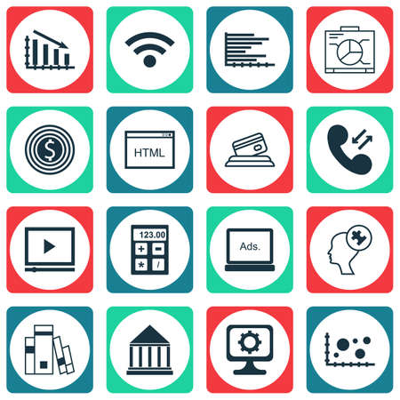 digicam: Set Of 16 Universal Editable Icons For Education, Computer Hardware And Marketing Topics. Includes Icons Such As Board, Library, Cellular Data And More.