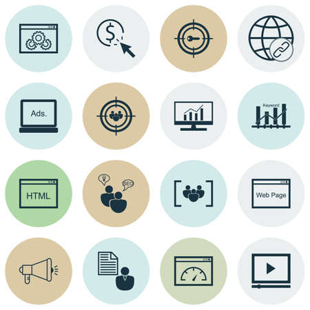keyword research: Set Of Marketing Icons On Coding, Market Research And Keyword Optimisation Topics. Editable Vector Illustration. Includes Ranking, Research And Client Vector Icons.