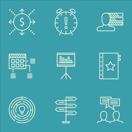 project charter: Set Of Project Management Icons On Money, Time Management And Opportunity Topics. Editable Vector Illustration. Includes Personal, Cash And Money Vector Icons.