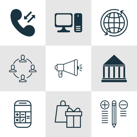 pillar box: Set Of 9 Universal Editable Icons For Project Management, Computer Hardware And Education Topics. Includes Icons Such As Education Center, Media Campaign, Decision Making And More.