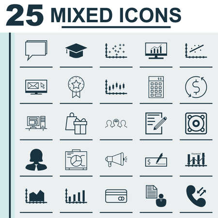 plot: Set Of 25 Universal Editable Icons For Education, Airport And Computer Hardware Topics. Includes Icons Such As Computer, Money Trasnfer, Market Research And More.