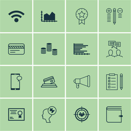 group travel: Set Of 16 Universal Editable Icons For Human Resources, Business Management And Travel Topics. Includes Icons Such As Decision Making, Focus Group, Bars Chart And More.