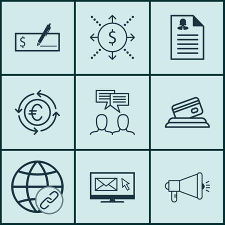 application recycle: Set Of 9 Universal Editable Icons For Marketing, Travel And Project Management Topics. Includes Icons Such As Connectivity, Currency Recycle, Female Application And More.