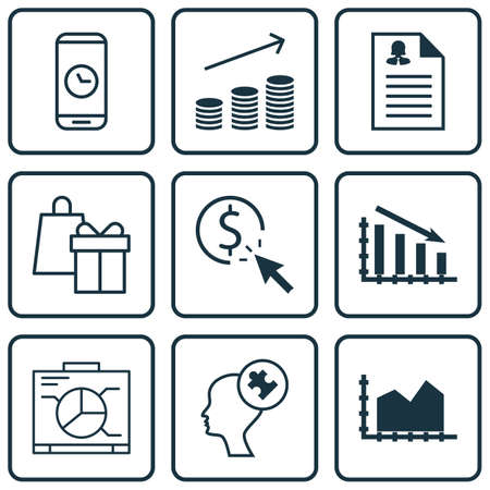 roaming: Set Of 9 Universal Editable Icons For SEO, Airport And Business Management Topics. Includes Icons Such As Shopping, Human Mind, Call Duration And More. Illustration