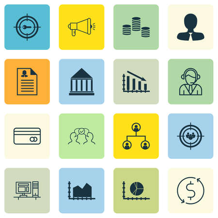 school bills: Set Of 16 Universal Editable Icons For Education, Marketing And SEO Topics. Includes Icons Such As Computer, Education Center, Media Campaign And More. Illustration